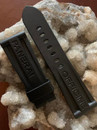 PANERAI OEM DIVE STRAP RUBBER CAOUTCHOUC BLACK 26/22 TANG BUCKLE