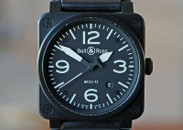 Bell & Ross BR03-92 Aviation Automatic Date Black Ceramic 42mm