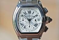 Cartier Roadster XL Chronograph Automatic Silver Dial Steel