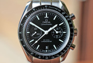 Omega Speedmaster Moon Chronograph Co-Axial Black Dial Steel 44mm