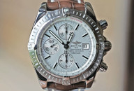 Breitling Chronomat Evolution Chronograph Date Silver Dial Steel 44mm Ref. A13356