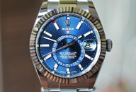 Rolex Sky Dweller Blue Dial, White Gold Bezel, Steel 42mm Ref. 326934