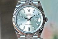 Rolex Datejust 41 Silver Dial Fluted Bez Jubilee Bracelet 41mm Ref. 126334