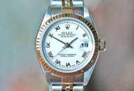 Rolex Datejust Lady Two Tone White Roman Dial, Jubilee Brac 26mm Ref 79173