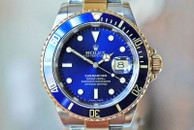 Rolex Submariner Two Tone Blue Dial with Papers 40mm Ref. 16613