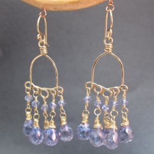 Blue Sapphire Chandelier Earrings