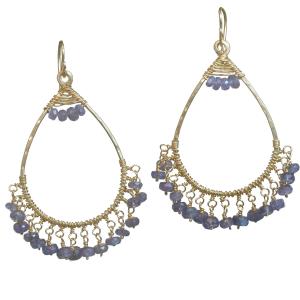 Custom Designed Chandelier Earrings - Woven