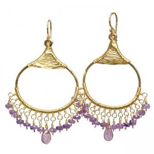 Chandelier Gemstone Earrings- Customizable (Tanzanite Shown)