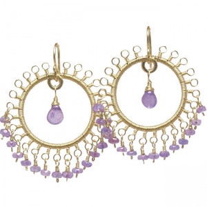 Circular Drop Earrings are Customizable