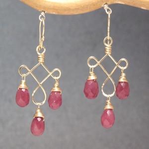 Chandelier Gem Earrings, Customizable, Purple Jade