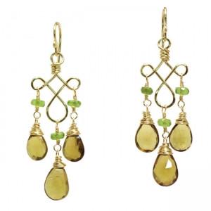 Brown Gemstone Earrings