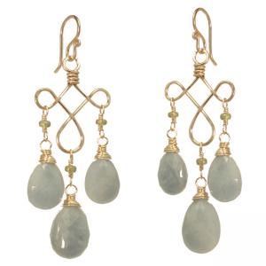 Pale Blue Drop Earrings