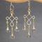 Pale Green Chandelier Earrings, Green Amethyst