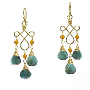 Turquoise Dangle Drop Earrings