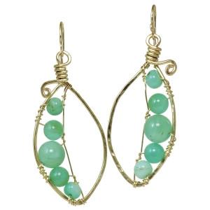 Sea Green Pea Pod Earrings