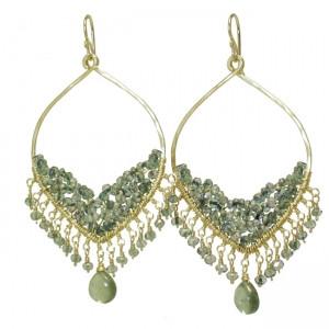 Moss Aquamarine Drop Earrings