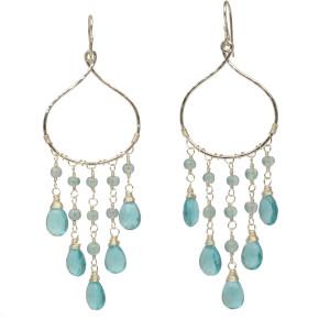 Custom Dangling Gemstone Earrings