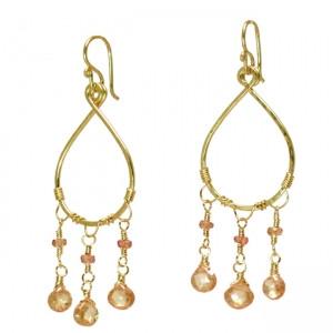 Champagne Dangle Earrings