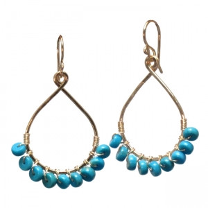 Blue Turquoise Teardrop Earrings