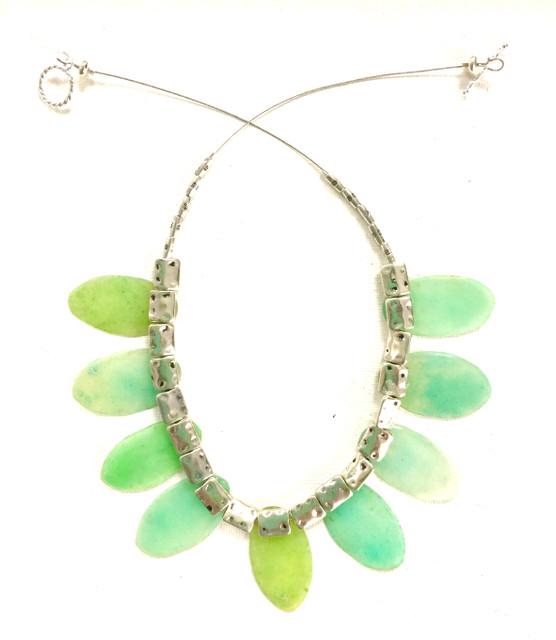 Sea-Green Sea-Glass Like Necklace