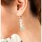 Aqua Pearl Drop Dangle Earrings