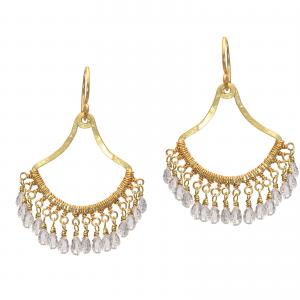 Customizable Filigree Dangle Earrings with Gems