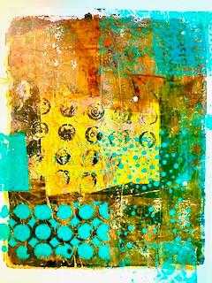 """Types of Color"" Series  #1 Original Monoprint"