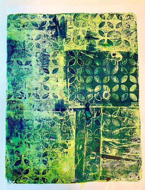"Original Monoprint ""Fresh Green"" #1 Series"