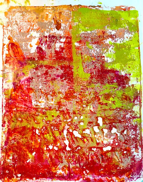 "Original Monoprint 'Summer Sunset"" #1 Series"