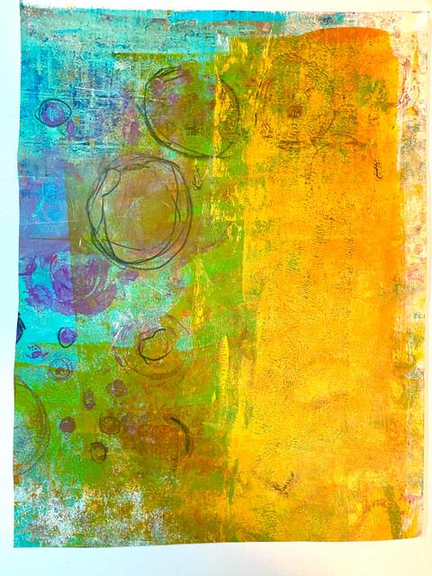 "Original Monoprint ""Summer Breeze"" #1 Series"