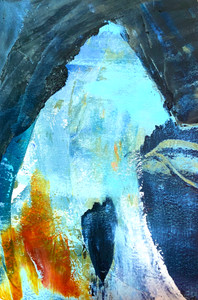 """Mountain Cave"" Collection, Oil on Paper, #1 Series"