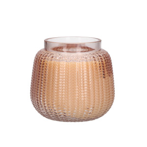 Textured Glass Collection Candle - Sweet Grace #034