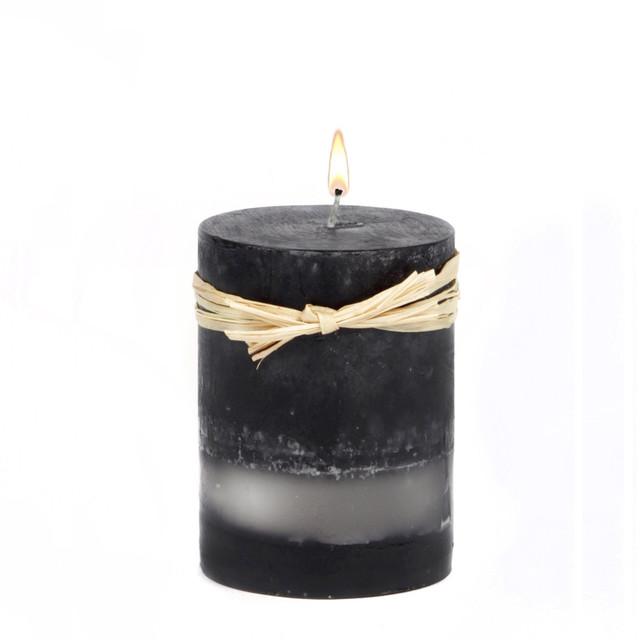 "Black Bamboo 3x3"" Pillar"