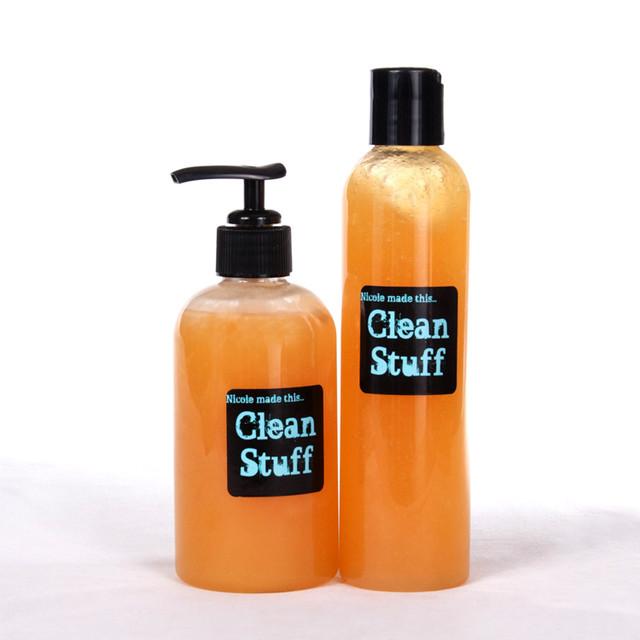 "Organic Liquid Hand Soap and Body Wash, ""Clean Stuff All-Over Organic Wash"""