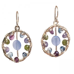 Round Amethyst Earrings