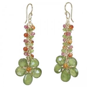 Light Green Crystal Earrings