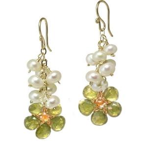 Lime Green Drop Earrings