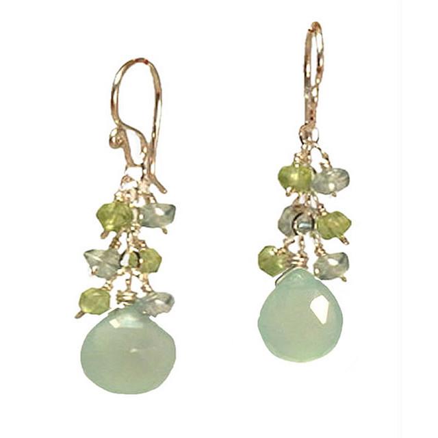 Aqua Blue Drop Earrings
