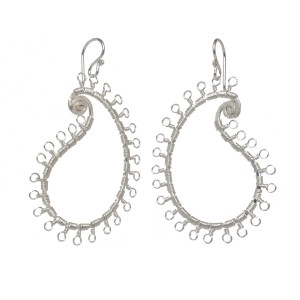 Delicate Gold Dangle Earrings in Paisley