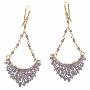 Amethyst Chandelier Earrings in Gold & Silver
