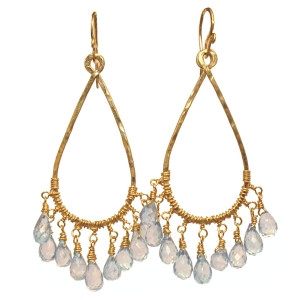 Aquamarine Drop Earrings in Gold or Silver