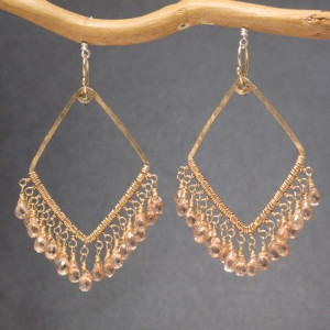 Champagne Crystal Drop Earrings