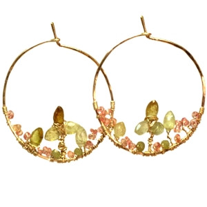 Orange Gemstone Earrings in Sunny Dangles