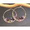 Purple Gemstone Drop Earrings Amethyst