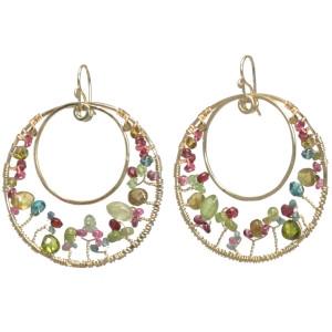 """Multi Gemstone Chandelier Earrings, """"Bohemian #120"""""""