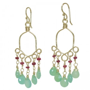 Mint Green Chandelier Earrings