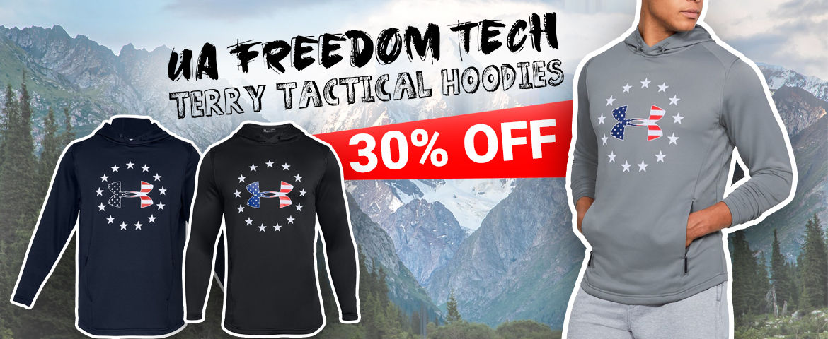 15% OFF UA Freedom Tech Terry Tactical Hoodies