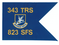 Custom embroidered SFS pennant flag