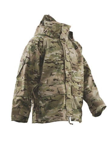 Front view of H2O ECWCS GEN-2 Parka in Multicam OCP