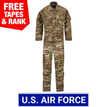 USAF Multicam OCP ACU Coat and Trouser Ensemble - 50/50 NYCO